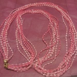 Super long vintage bead necklace PM 709